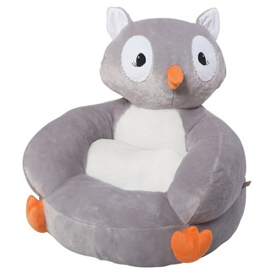 Kids Plush Owl Character Chair   Gray   Trend Lab