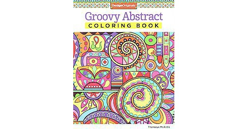 Groovy Abstract Adult Coloring Book - image 1 of 1
