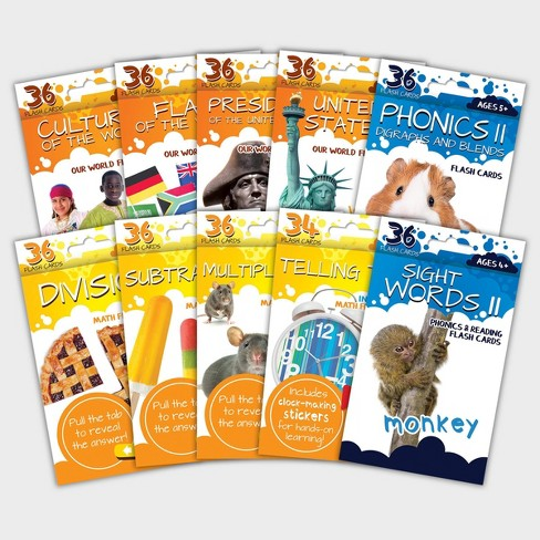 360ct Flashcards for Ages 5+ - Bendon - image 1 of 4