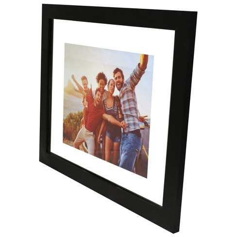 """11"""" x 14"""" Wide Gallery Matted Frame Black - Made By Design™ - image 1 of 4"""