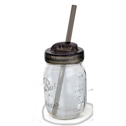 Ball Set Of 2 Mason Jar Sip And Straw Lids Regular Mouth Target
