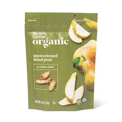 Organic Dried Unsweetened Pear Snacks - 4oz - Good & Gather™