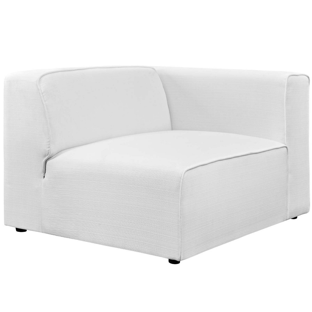 Mingle Fabric Right Facing Sofa White - Modway