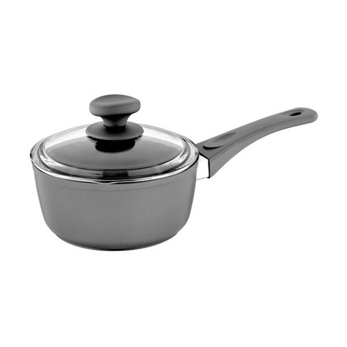 Saflon 2 Quart Nonstick Titanium Coated Aluminum Sauce Pan with Lid, Matte Gray - image 1 of 4