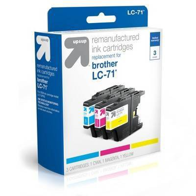 Remanufactured Cyan/Magenta/Yellow Standard 3-Pack Ink Cartridges - Compatible with Brother LC 71 Ink Series Printers - up & up™