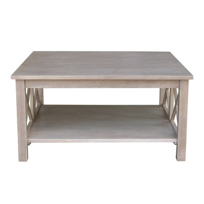 Hampton Square Coffee Table Washed Gray/Taupe - International Concepts