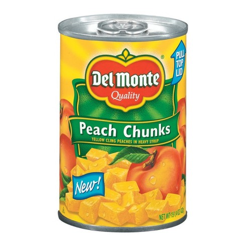 Del Monte Yellow Cling Peach Chunks In Heavy Syrup 15.25 oz - image 1 of 1