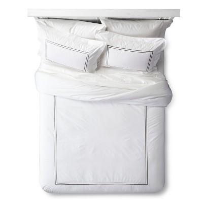 Classic Hotel Comforter Set (King)White&Gray 3pc - Fieldcrest™