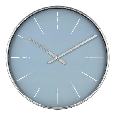 10  Blue and Brushed Nickel Wall Clock - Project 62™