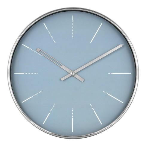 "10"" Blue and Brushed Nickel Wall Clock - Project 62™ - image 1 of 4"