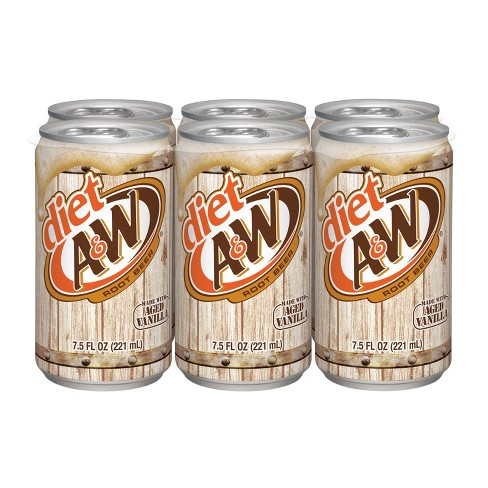 Diet A&W Root Beer - 6pk/7.5 fl oz Cans - image 1 of 3