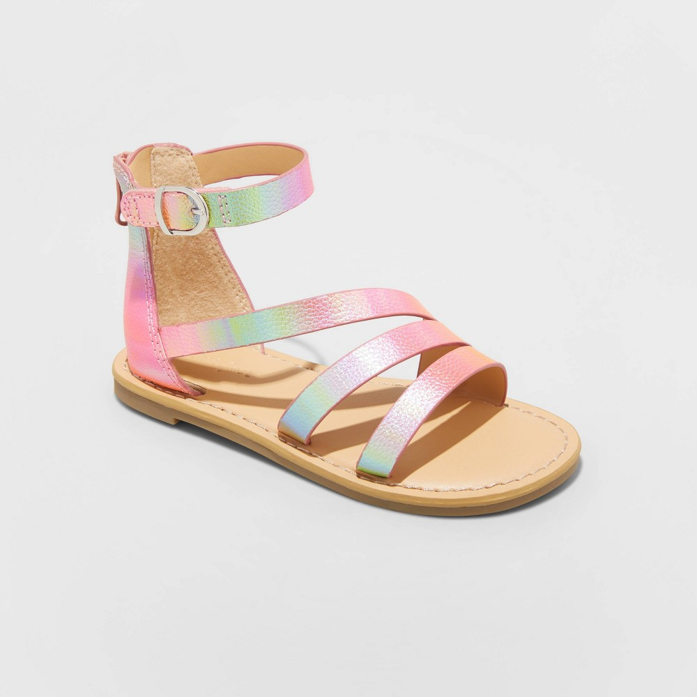 Toddler Girls 39 Patience Ankle Strap Sandals Cat 38 Jack 8482 Iridescent 5