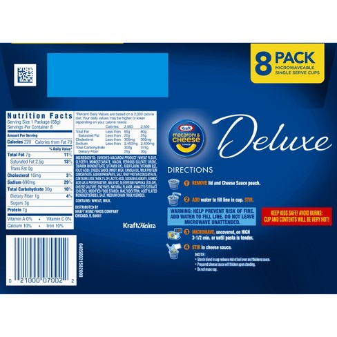 Kraft Deluxe Mac Cheese Cups 8pk 1912oz Target