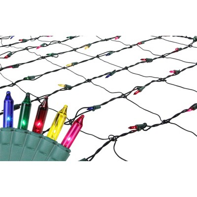 Northlight 150ct Mini Net Lights Multi-Color - 4' x 6' Green Wire