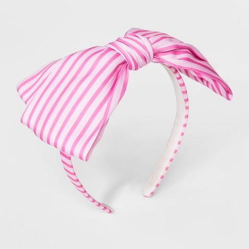 Girls' Striped Bow Headband - Cat & Jack™ One Size - image 1 of 1
