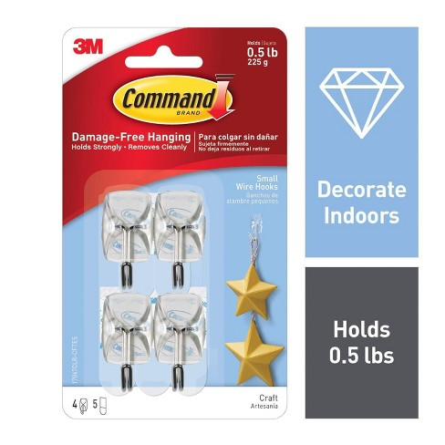 Command™ Hooks 4ct - Small Wire Hooks - image 1 of 8