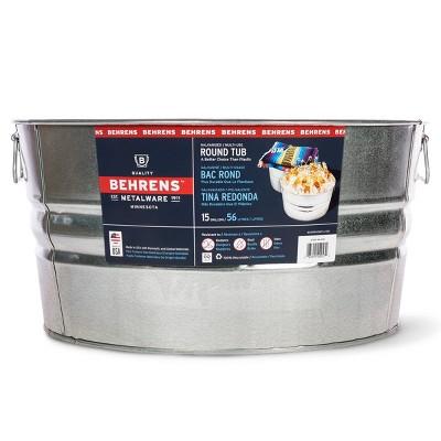 Behrens 15gal Galvanized Steel Round Tub Silver
