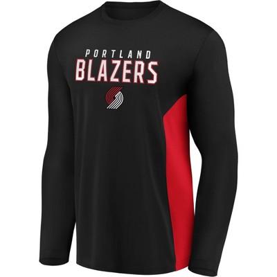 NBA Portland Trail Blazers Men's Synthetic Long Sleeve T-Shirt