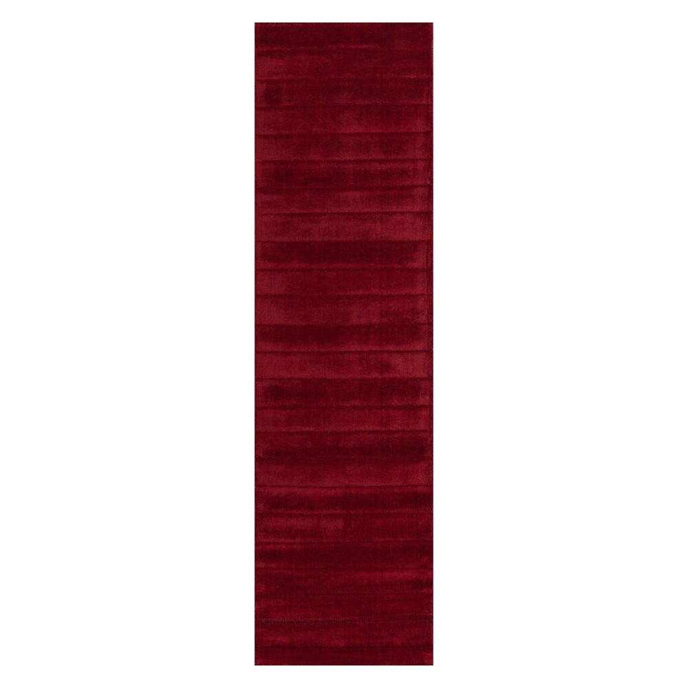 2'3X8' Solid Tufted Runner Red - Momeni