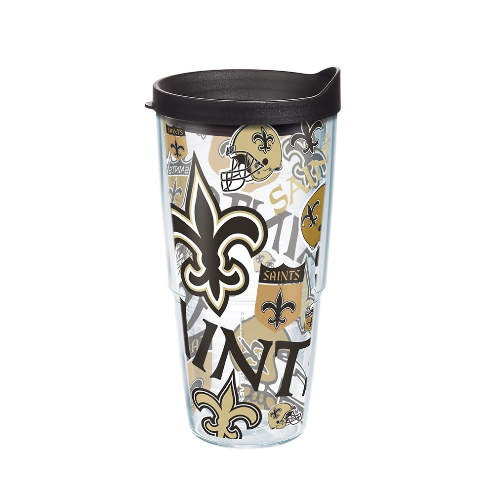 Tervis NFL New Orleans Saints All Over 24oz Tumbler with lid