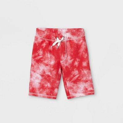 Boys' Tie-Dye Pull-On Shorts - Cat & Jack™ Red/White