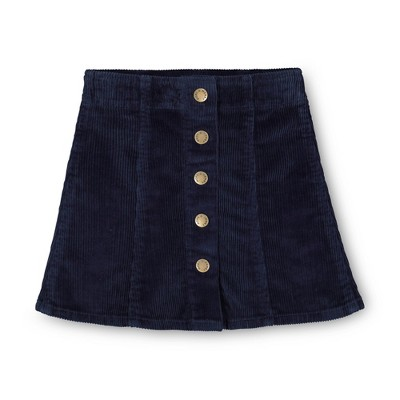 Hope & Henry Girls' A-Line Skirt with Snap Front, Infant