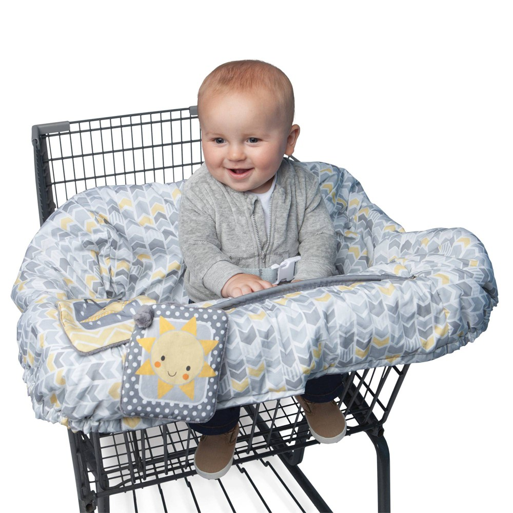 Image of Boppy Baby Chevron Pattern Shopping Cart Cover - Gray