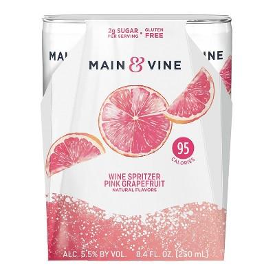 Main & Vine Pink Grapefruit Wine Spritzer - 4pk/8.4 fl oz Cans