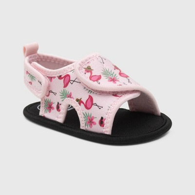 Ro+Me by Robeez Baby Girls' Flamingo Ankle Strap Sandals - 6-12M