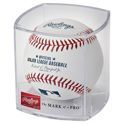 Rawlings MLB Official League Baseball with Case and Stand