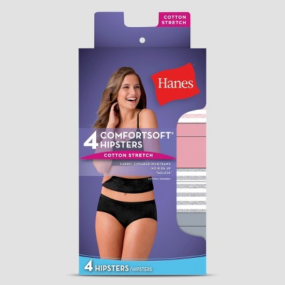Hanes Women's Cotton Stretch 4pk Hipster briefs - Colors May Vary