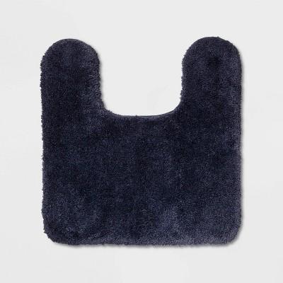 Performance Nylon Contour Bath Rug Navy Blue - Threshold™