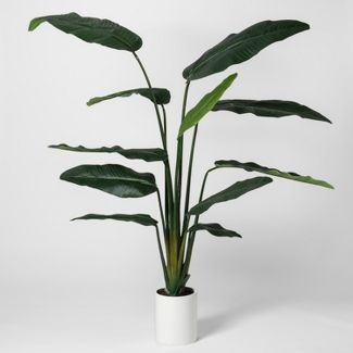 "80"" x 30"" Artificial Banana Tree In Pot White - Project 62™"