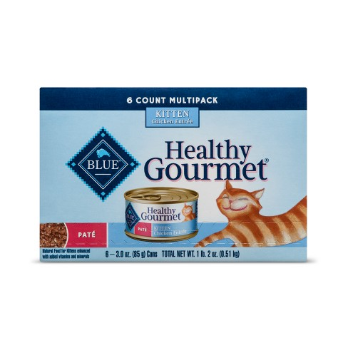 Blue Buffalo Healthy Gourmet Kitten (Variety Pack) - Wet Cat Food - 6ct - image 1 of 2