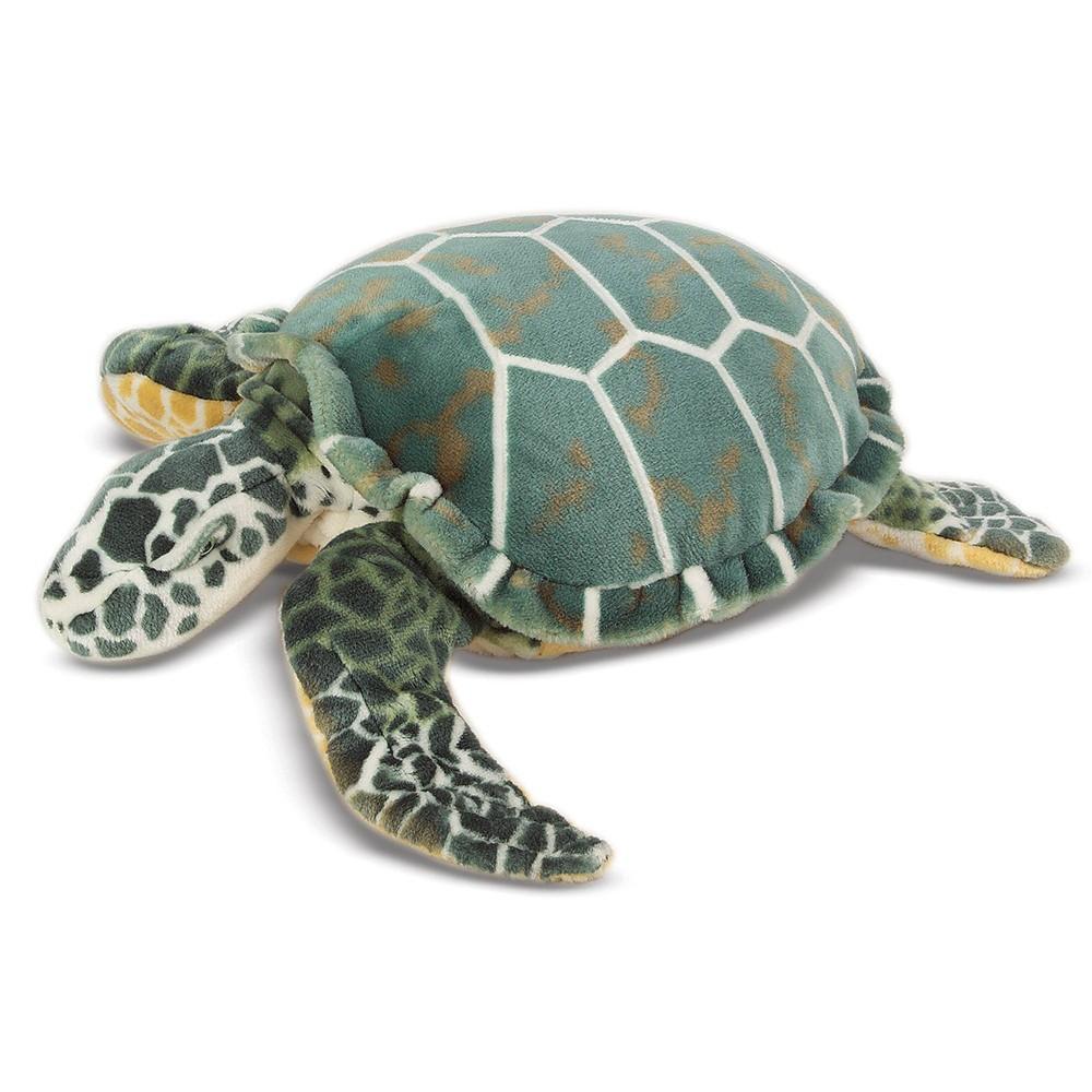 Melissa 38 Doug Giant Sea Turtle Lifelike Stuffed Animal Nearly 3 Feet Long