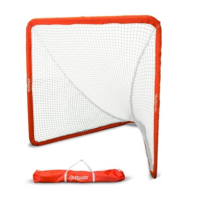 GoSports Regulation 6 X 7 Foot Foldable Steel Framed Lacrosse Goal Net with Portable Carry Travel Case For All Level Competition