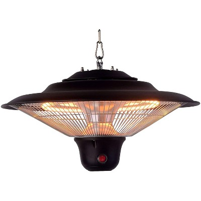 Optimus PHE-1500BR Portable Garage Shop Infrared Quartz Ceiling Mounting Heater with Digital LED Controls and Remote Control Included
