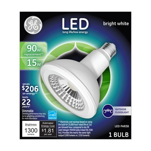 GE LED 90Watt PAR38 Outdoor Floodlight Light Bulb - Bright White - image 1 of 3
