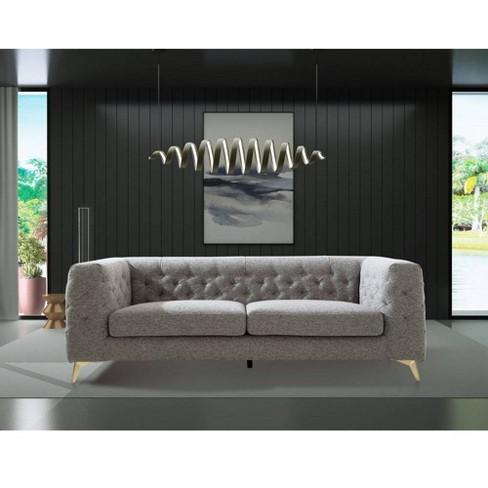 Carlyle Sofa Dark Gray Chic Home Target