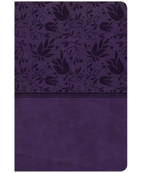 Holy Bible : Christian Standard Bible, Personal Size Reference Bible, Purple Leathertouch, Large Print - image 1 of 1