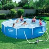 "Bestway Steel Frame Pool w/ Filter Pump & 36"" Steel Pool Ladder w/ No-Slip Steps - image 3 of 4"