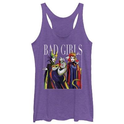 Women's Disney Princesses Artistic Bad Girl Racerback Tank Top