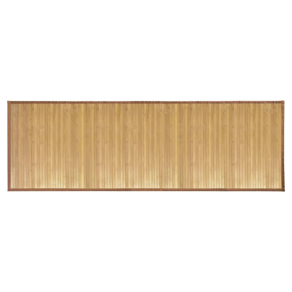 Rayon made from Bamboo Bath Mat Runner - iDESIGN, Brown