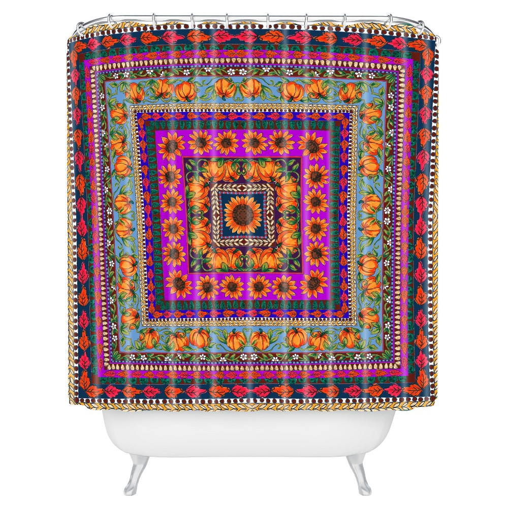Image of Aimee St Hill Fall Harvest Shower Curtain Orange - Deny Designs