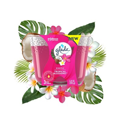 Glade Exotic Tropical Blossom Candle 3-Wick Candle - 6.8oz