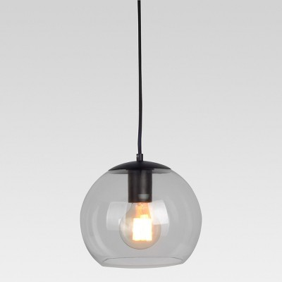 Madrot Small Glass Globe Pendant Ceiling Light Black Lamp Only - Project 62™