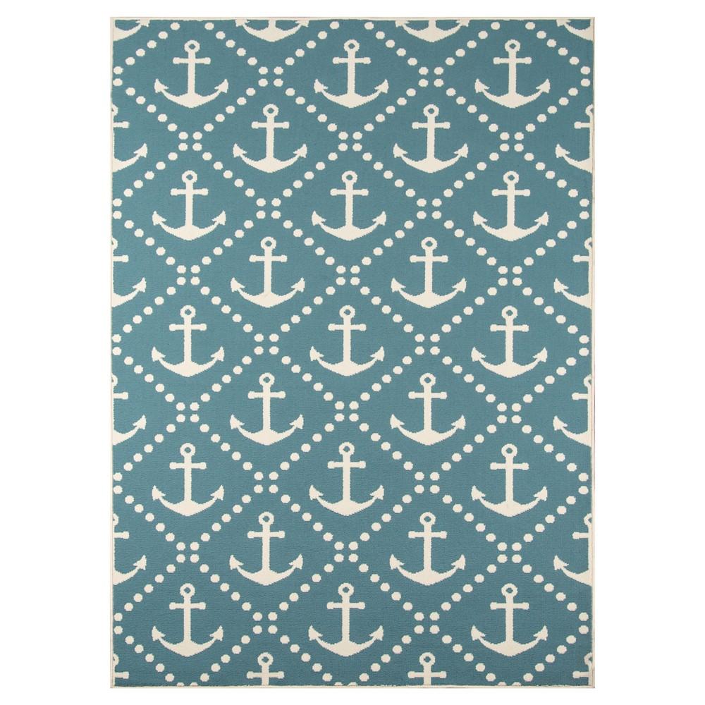 Anchor Trellis Rug - Blue - (7'10x10'10) - Momeni