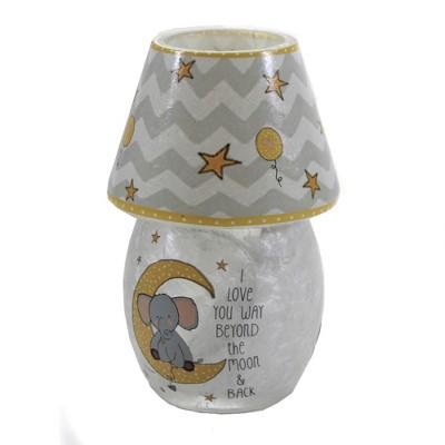 "Stony Creek 5.5"" Moon & Stars Lit Votive W/Shade Baby Pre-Lit  -  Novelty Sculpture Lights"