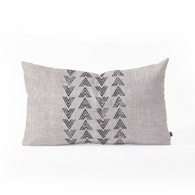 Holli Zollinger French Tri Arrow Lumbar Throw Pillow Gray - Deny Designs