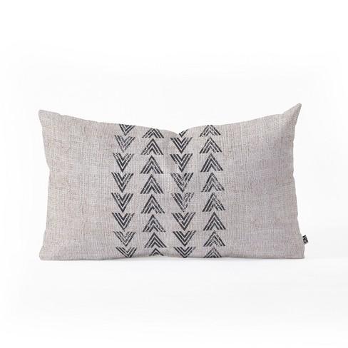 Holli Zollinger French Tri Arrow Lumbar Throw Pillow Gray Deny Designs Target